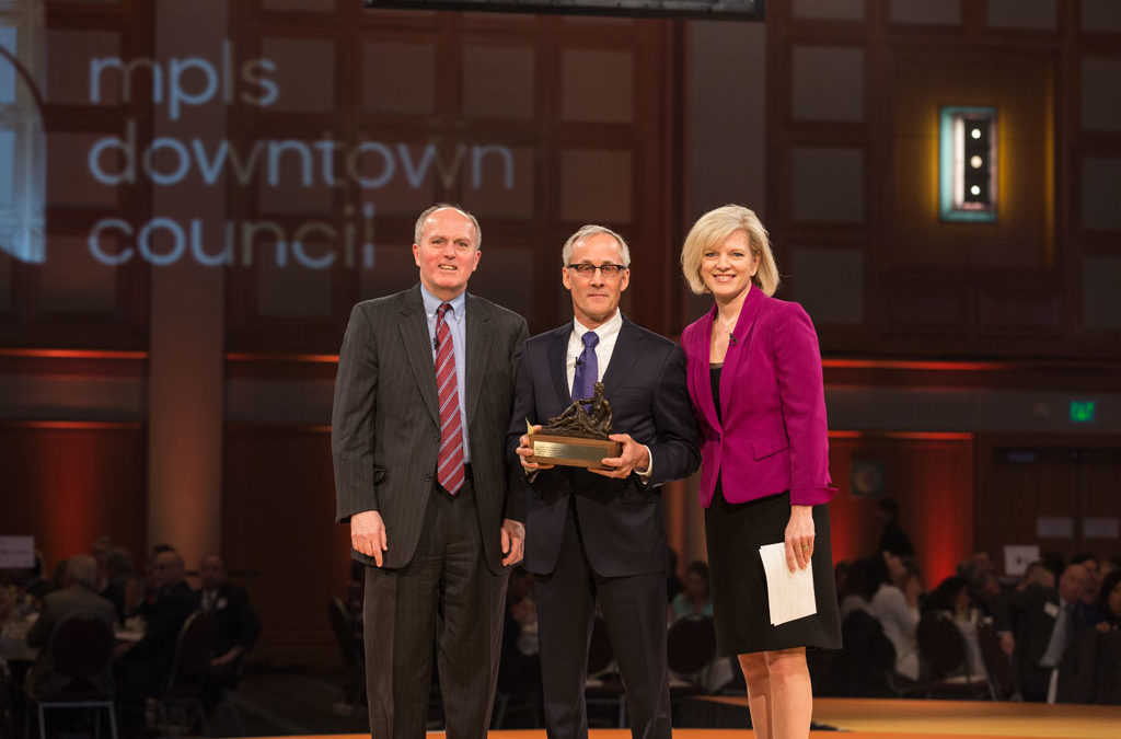 father of waters award given at mpls downtown council annual meeting