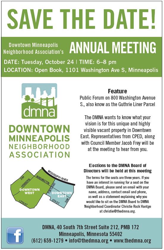 DMNA Annual Meeting - mpls downtown council
