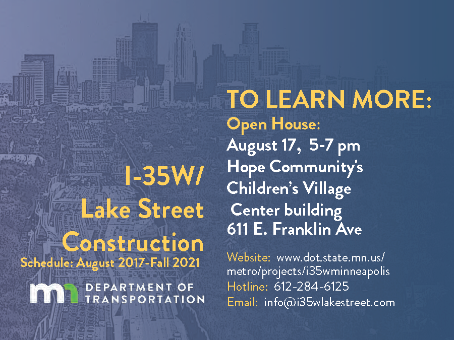 I-35W/Lake Street Construction Open House - mpls downtown
