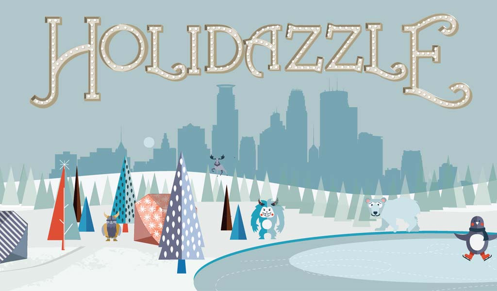hospitality tent available for organizations at Holidazzle