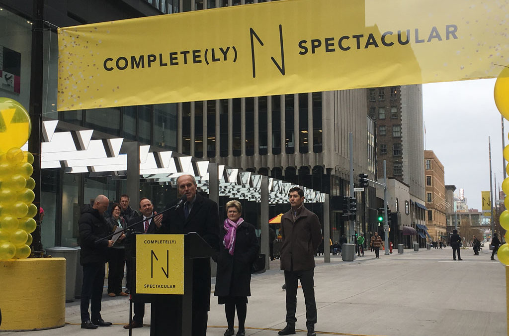 business leaders, city officials celebrate opening of new Nicollet