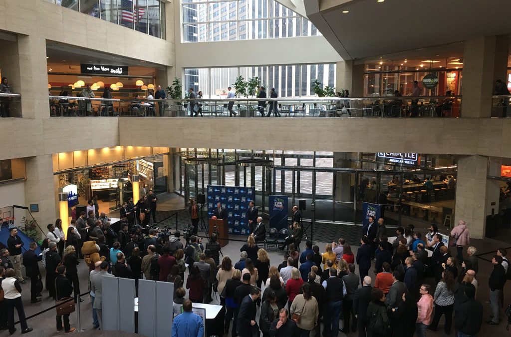 Mpls Final Four hosts hand-off event with MN Super Bowl Host Committee