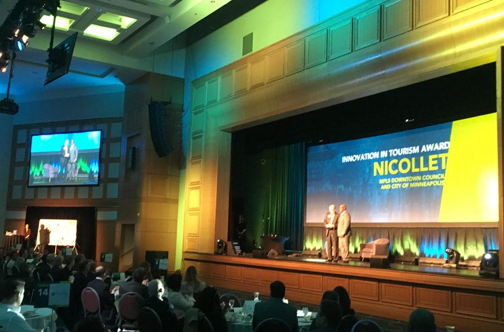 photos: Nicollet receives award at Meet Minneapolis annual meeting