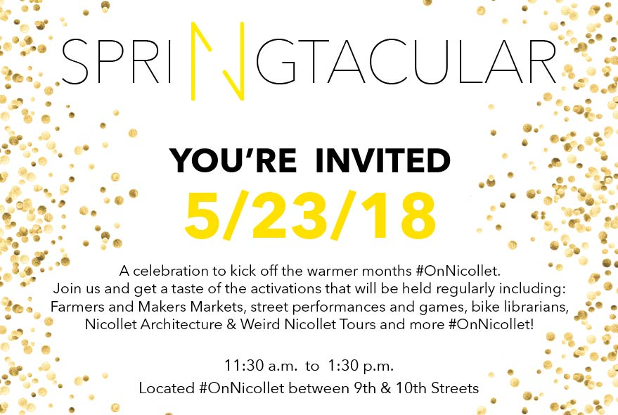 Nicollet Springtacular event set for Wednesday, May 23 #OnNicollet