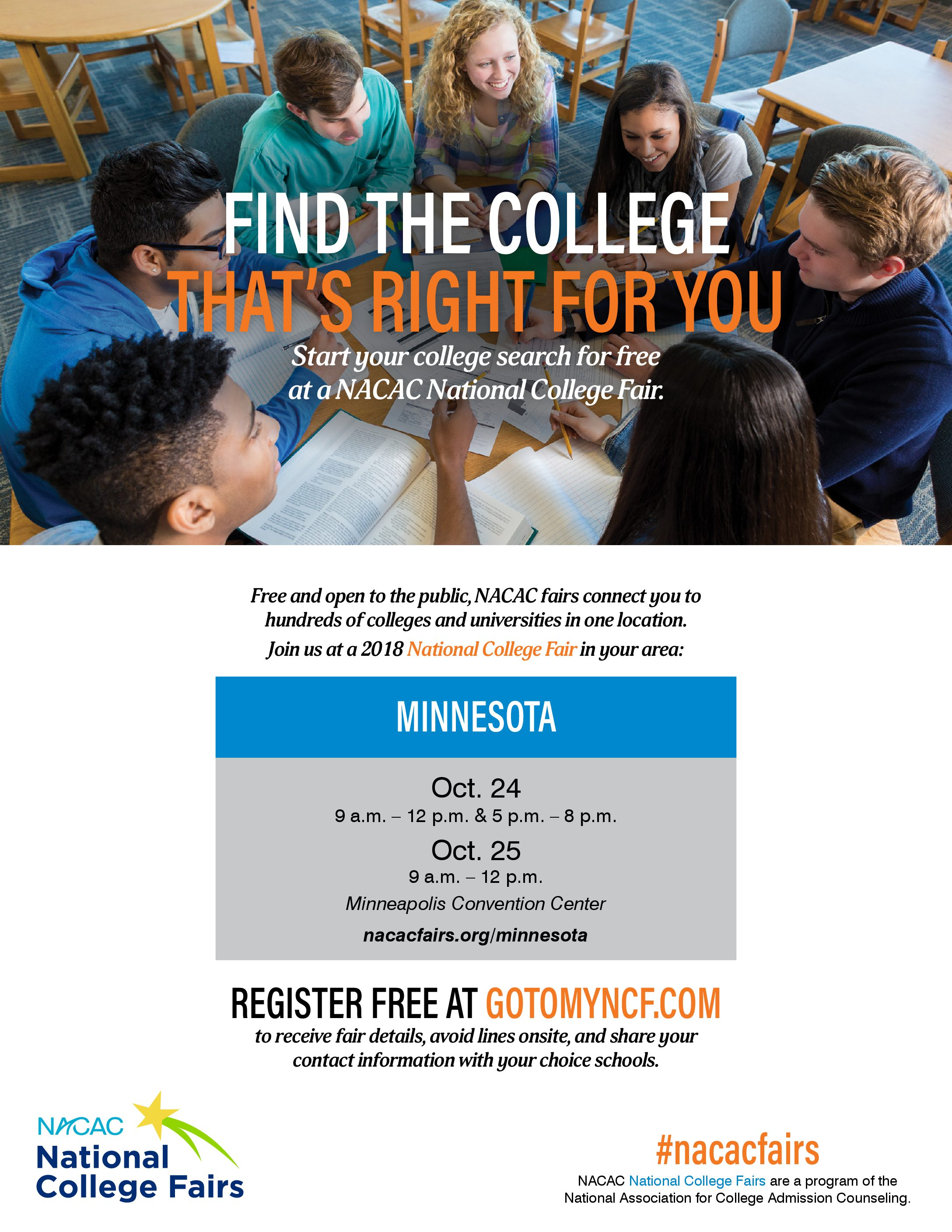 2018 national college fair mpls downtown council