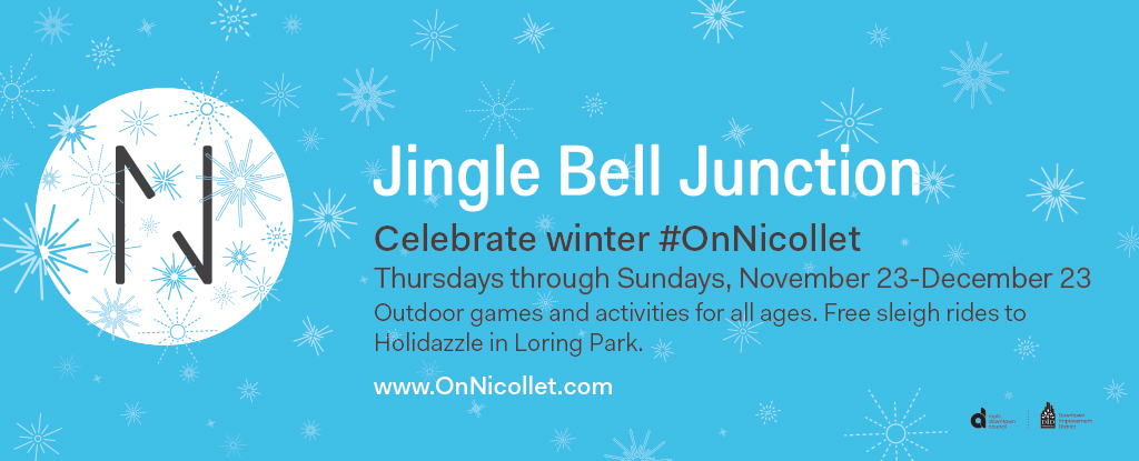 Jingle Bell Junction at 6th an Nicollet