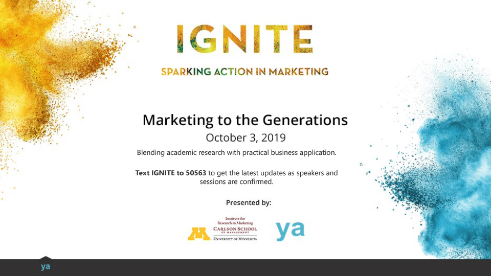 text for 2019 Ignite Marketing Conference info