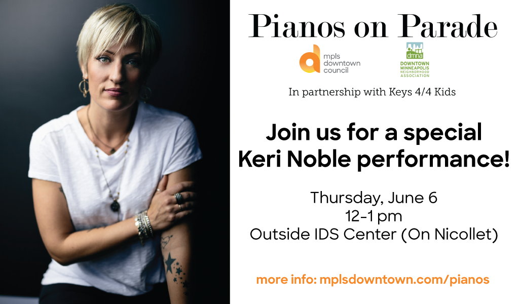 Keri Noble to hold free performance to kick off Pianos on Parade on June 6