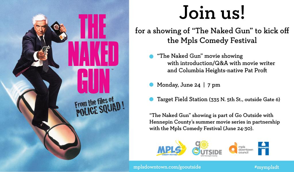 """outdoor movie night: """"The Naked Gun"""""""