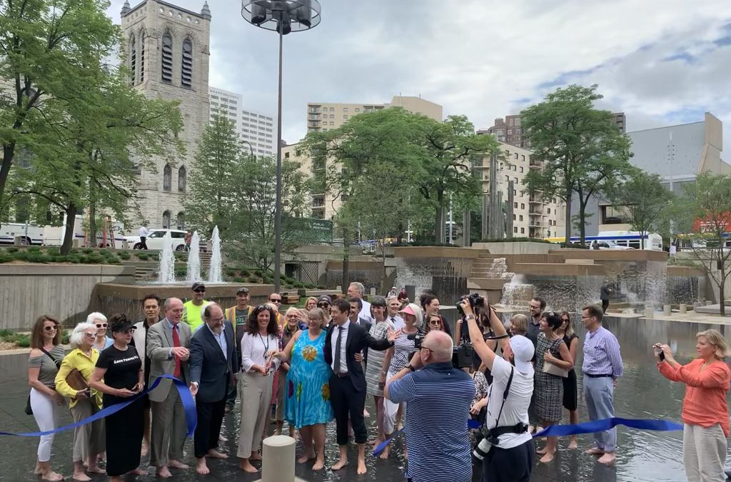 photos: Peavey Plaza grand opening celebration