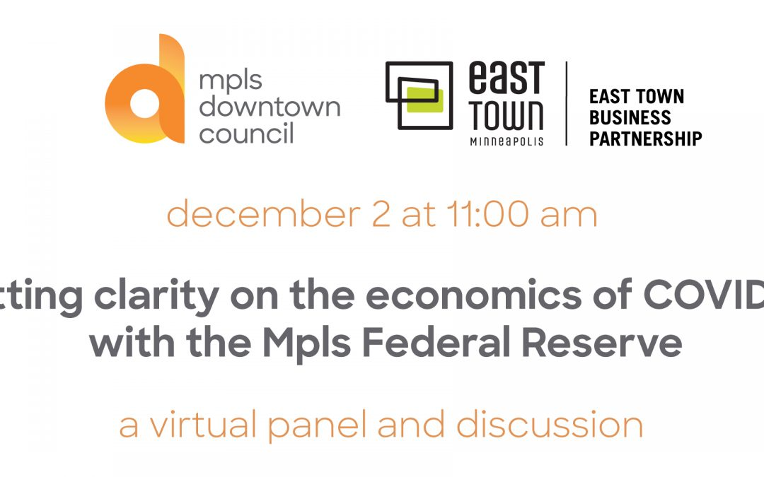 getting clarity on the economics of COVID-19 with the Mpls Federal Reserve