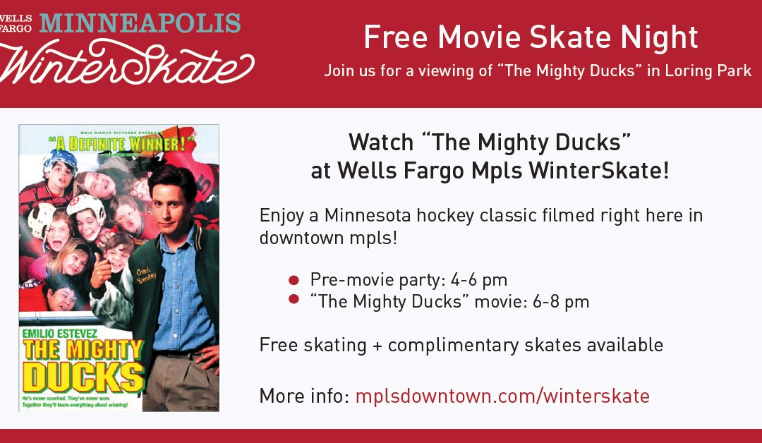 Watch The Mighty Ducks at Wells Fargo Mpls WinterSkate on Friday, January 17